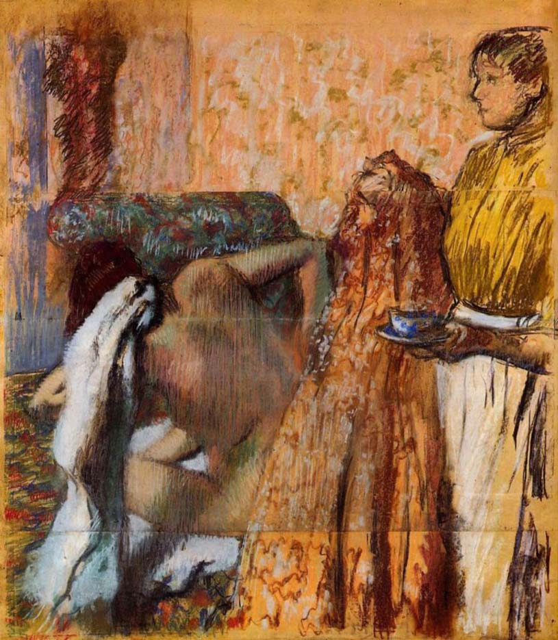 """Эдгар Дега (Edgar Degas), """"Завтрак после ванны"""""""
