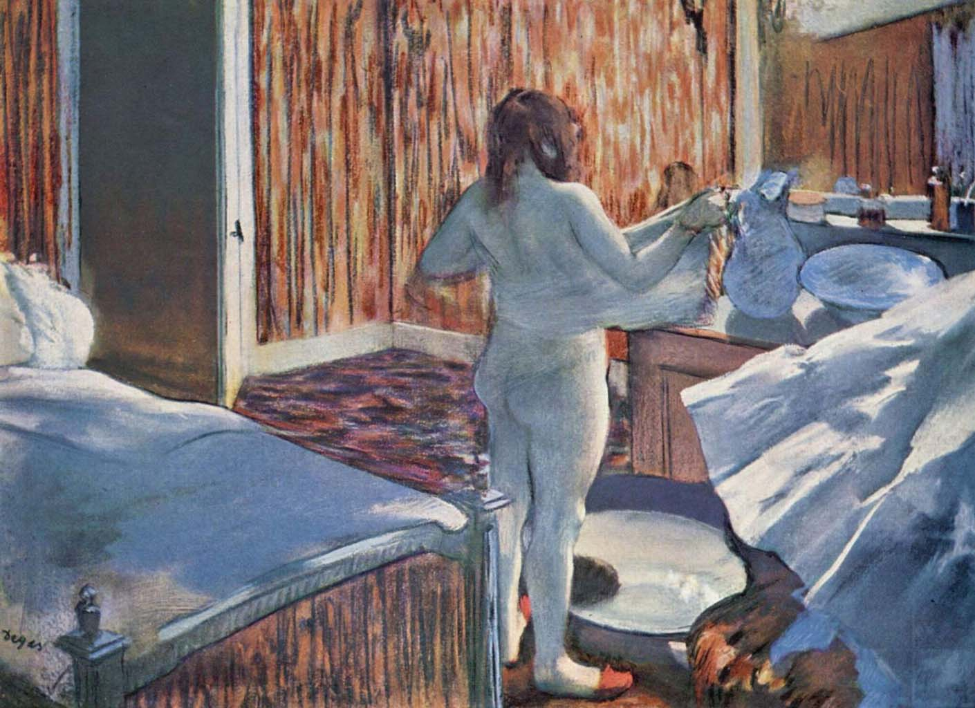 "Эдгар Дега (Edgar Degas), ""Женщина за туалетом"""