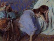 """Эдгар Дега (Edgar Degas), """"Девушка, отдыхающая на кровати"""""""