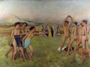 "Эдгар Дега (Edgar Degas), ""Упражнения юных спартанцев"""