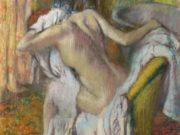 """Эдгар Дега (Edgar Degas), """"После ванны. Женщина вытирается"""""""