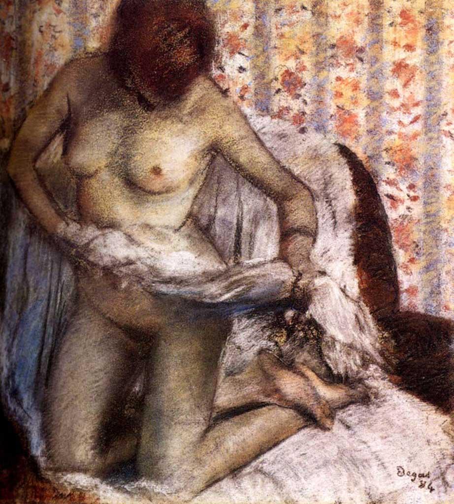 "Эдгар Дега (Edgar Degas), ""Туалет (Женщина, вытирающаяся после ванны)"""