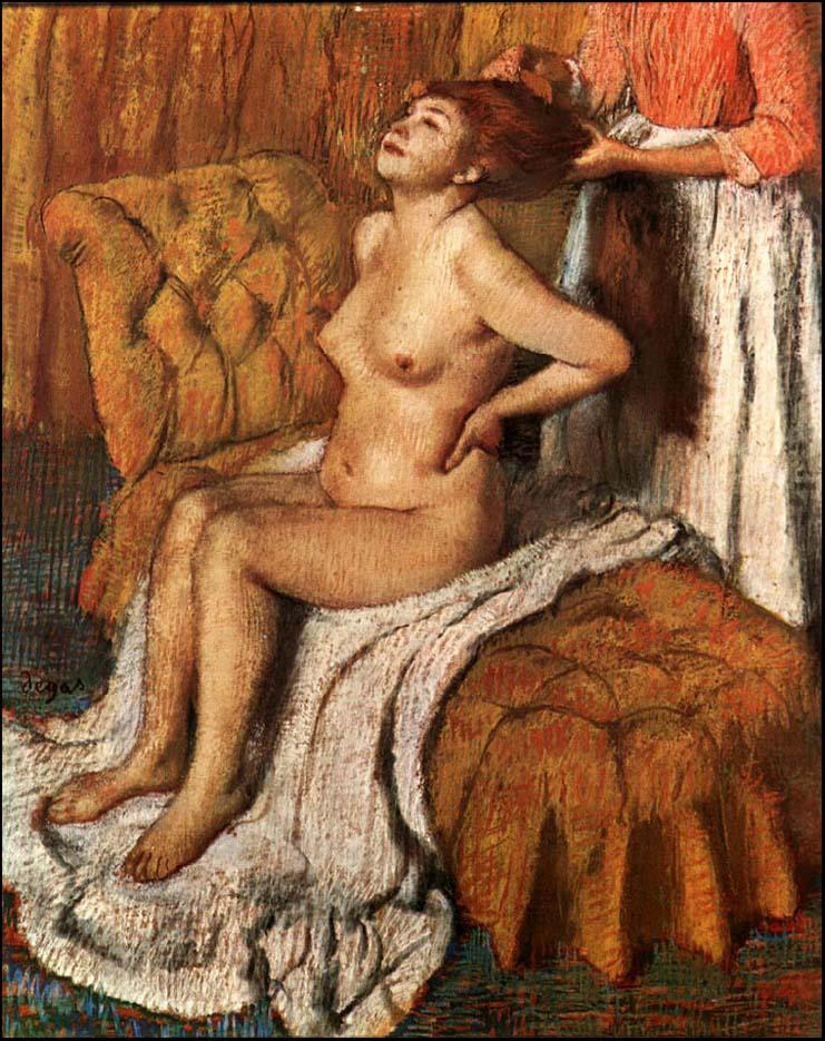 """Эдгар Дега (Edgar Degas), """"Женщине расчесывают волосы"""""""