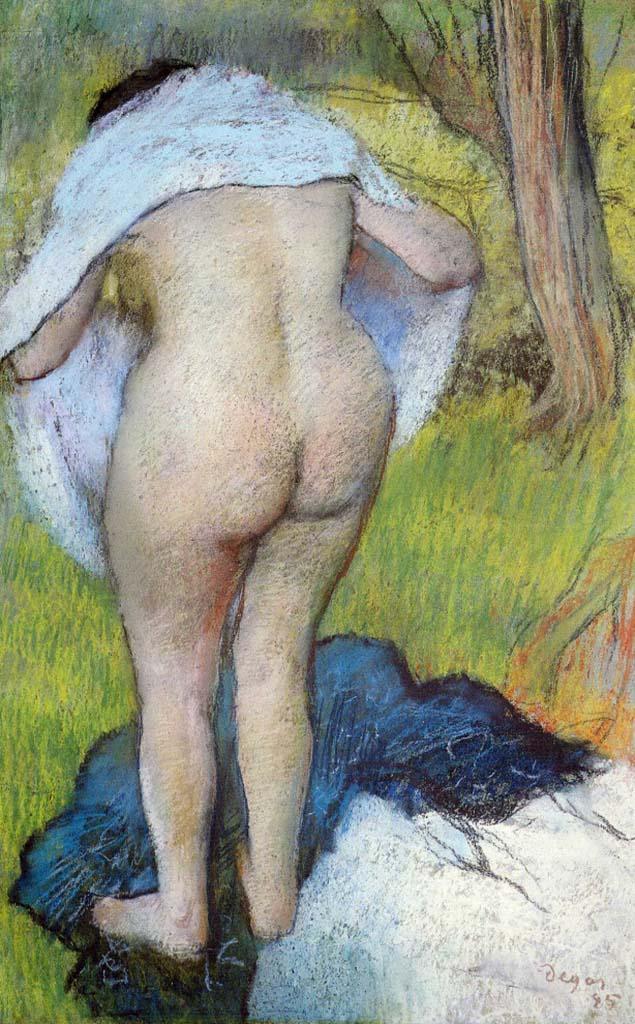 """Эдгар Дега (Edgar Degas), """"Девушка вытирается"""""""