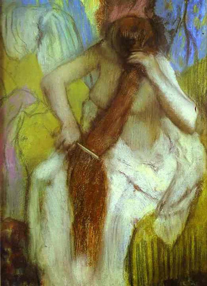 """Эдгар Дега (Edgar Degas), """"Причесывающаяся женщина"""""""