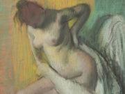"""Эдгар Дега (Edgar Degas), """"Вытирающаяся женщина (2)"""""""