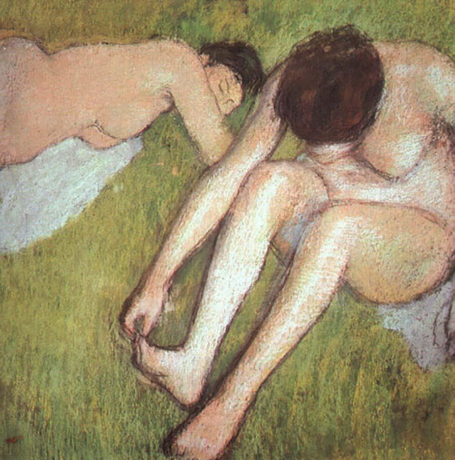 """Эдгар Дега (Edgar Degas), """"Купальщицы на траве"""""""