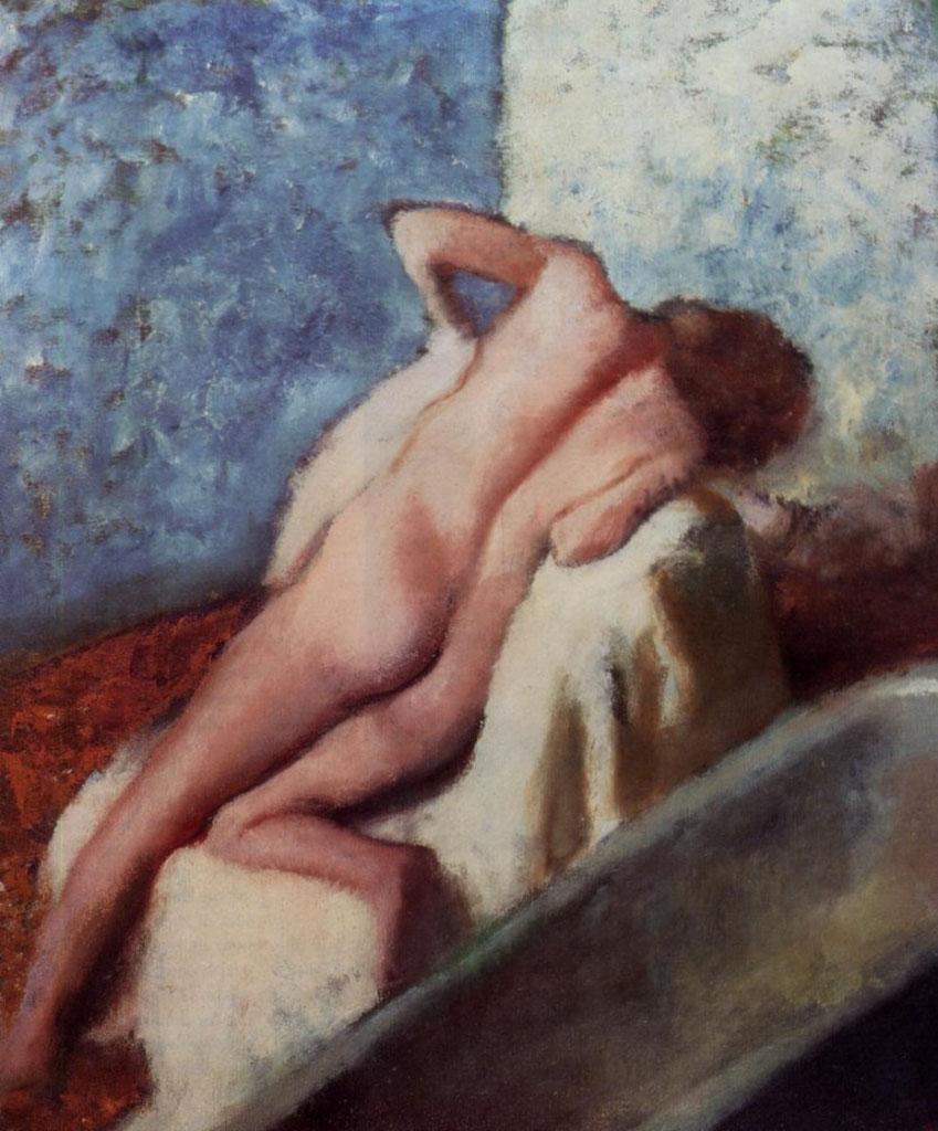 """Эдгар Дега (Edgar Degas), """"После ванны"""""""