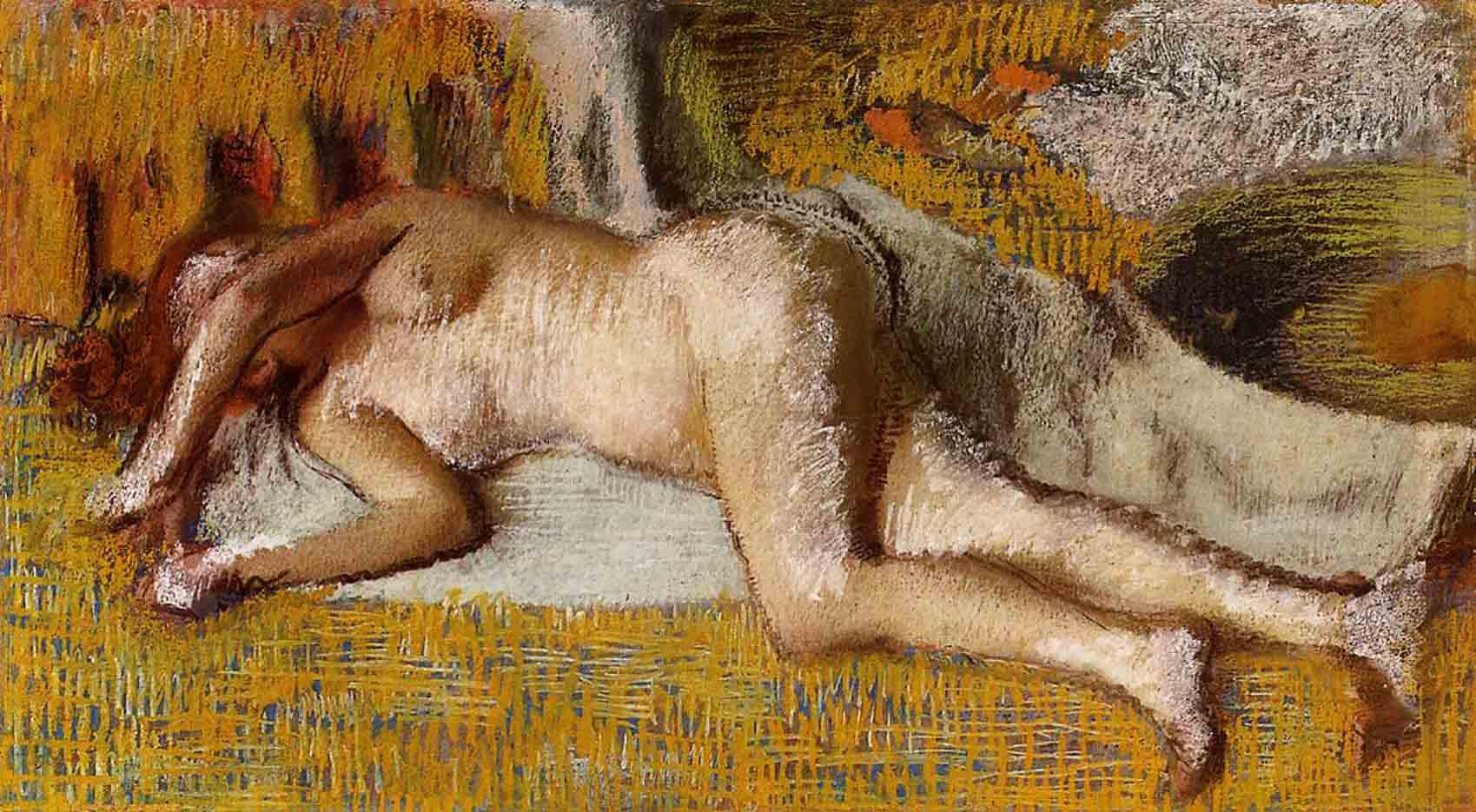 """Эдгар Дега (Edgar Degas), """"После ванны (10)"""""""