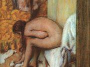 """Эдгар Дега (Edgar Degas), """"После ванны. Женщина вытирает ноги"""""""
