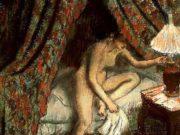 """Эдгар Дега (Edgar Degas), """"Укладывается"""""""