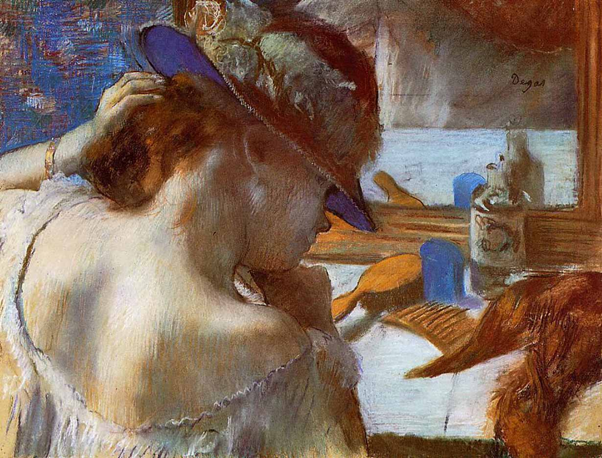 "Эдгар Дега (Edgar Degas), ""At the Mirror"""