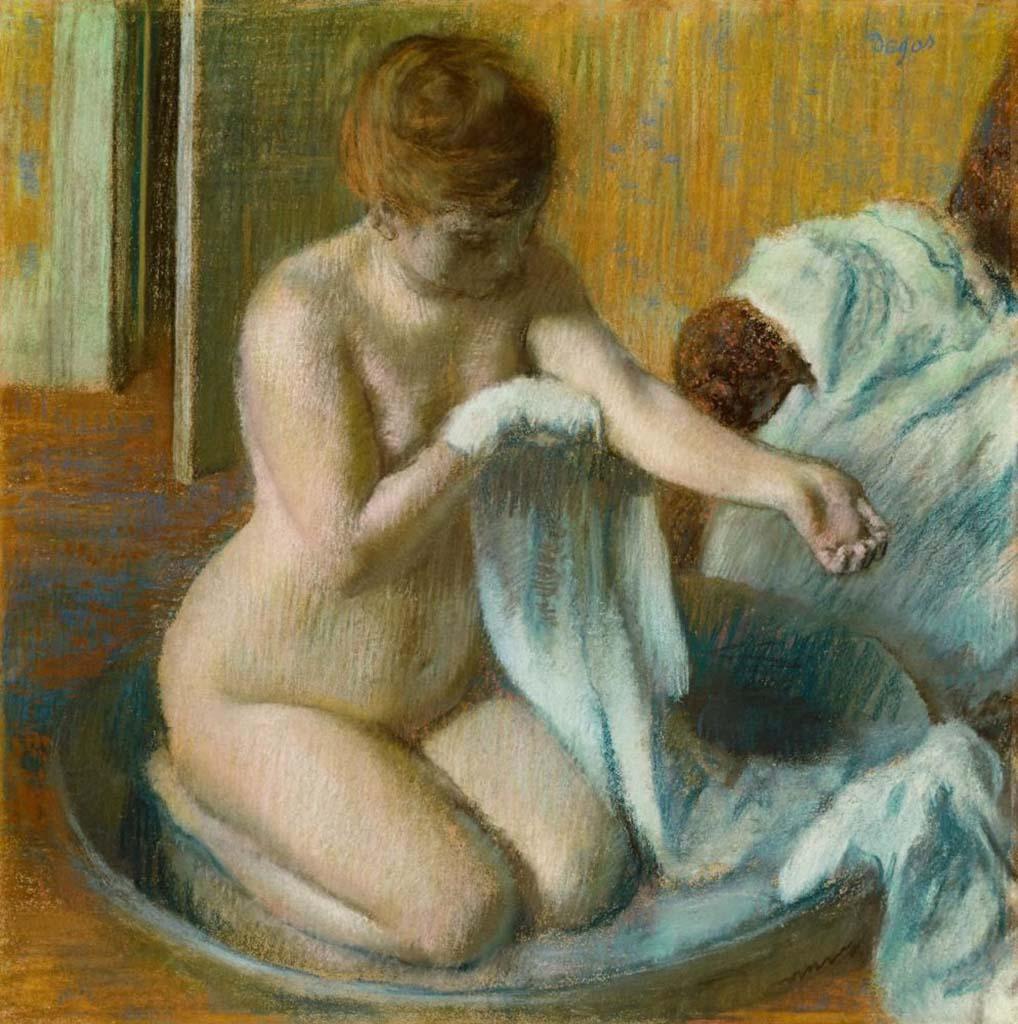 """Эдгар Дега (Edgar Degas), """"Женщина в ванной"""""""
