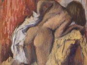 """Эдгар Дега (Edgar Degas), """"Вытирающаяся после ванны женщина"""""""