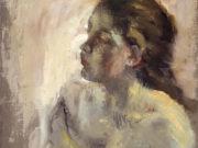 "Эдгар Дега (Edgar Degas), ""Голова девушки"""