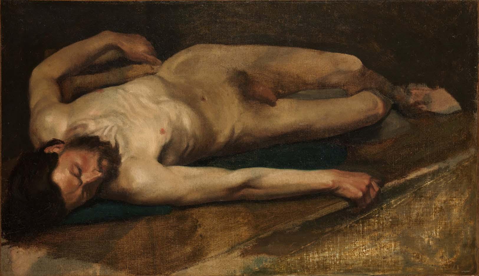 """Эдгар Дега (Edgar Degas), """"Обнаженный мужчина"""""""