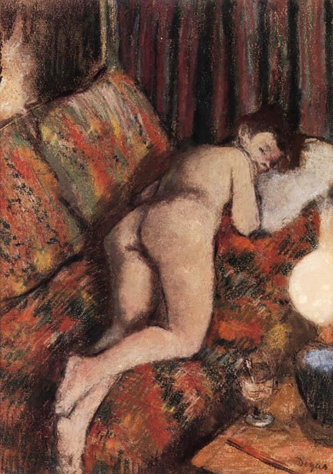 """Эдгар Дега (Edgar Degas), """"Обнаженная на диване"""""""