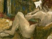 """Эдгар Дега (Edgar Degas), """"Чтение. Обнаженная со спины"""""""