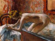 "Эдгар Дега (Edgar Degas), ""Женщина, выходящая из ванны"""