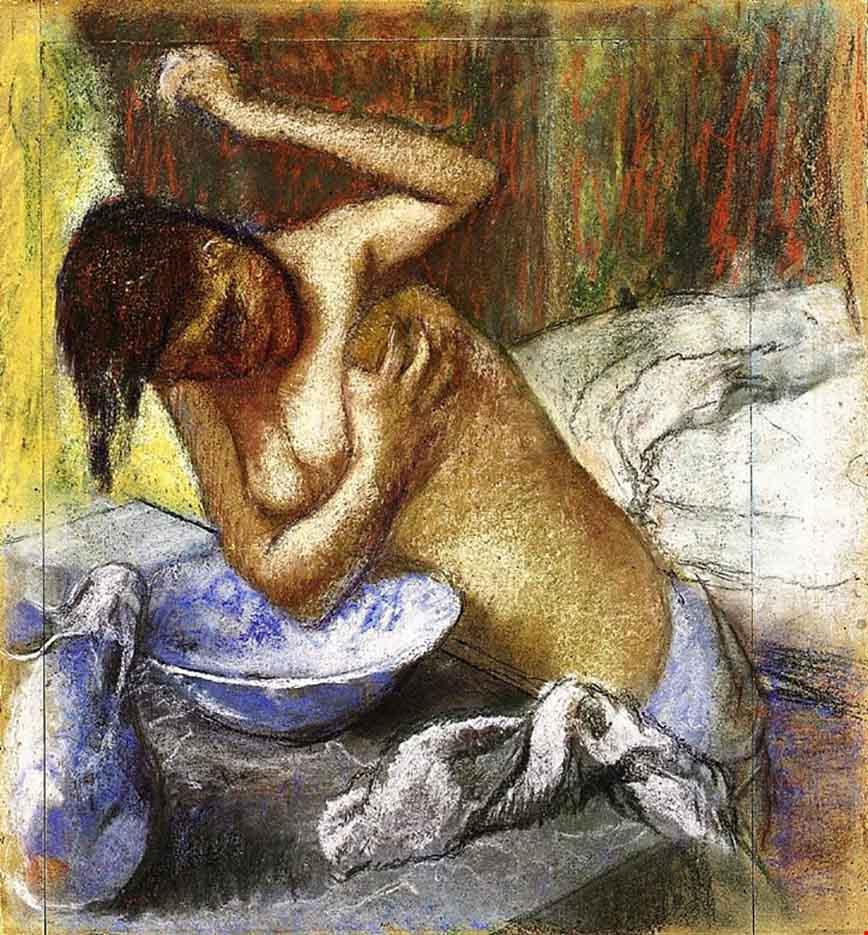 """Эдгар Дега (Edgar Degas), """"Моющаяся женщина"""""""