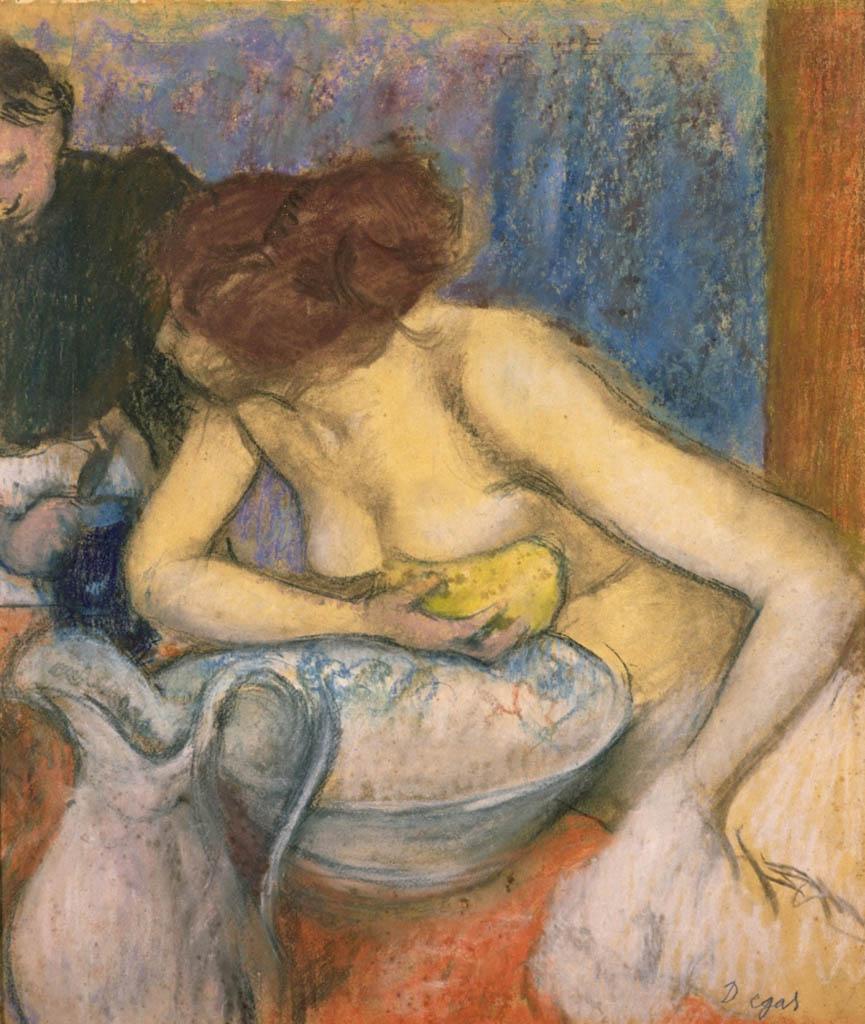 "Эдгар Дега (Edgar Degas), ""Женщина за туалетом (2)"""