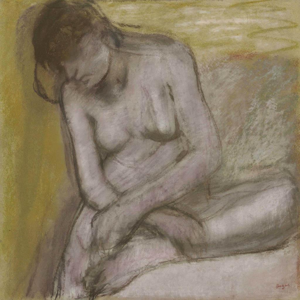 """Эдгар Дега (Edgar Degas), """"Сидящая обнаженная"""""""