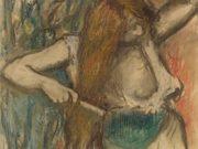 """Эдгар Дега (Edgar Degas), """"Женщина, расчесывающая волосы"""""""