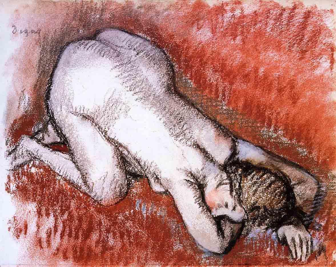 """Эдгар Дега (Edgar Degas), """"Обнаженная, стоящая на коленях"""""""