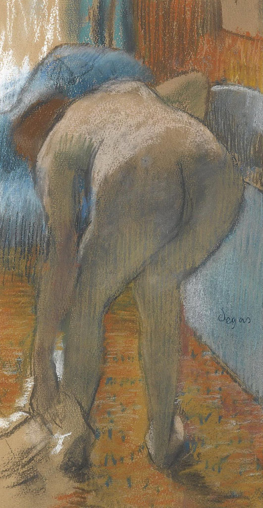 "Эдгар Дега (Edgar Degas), ""Taking a Bath"""
