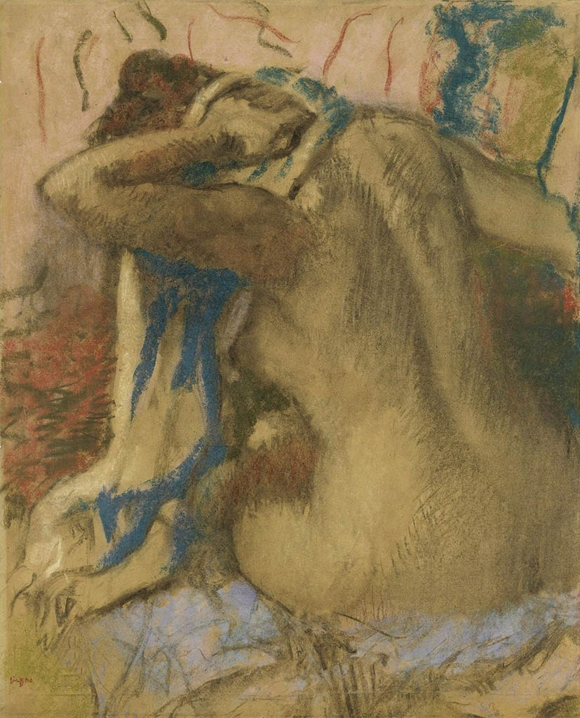 "Эдгар Дега (Edgar Degas), ""Woman Drying Her Hair"""