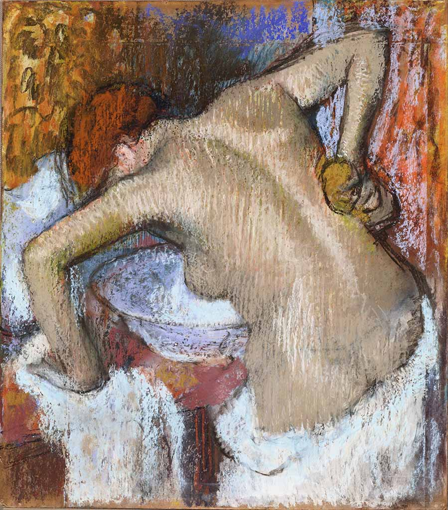 "Эдгар Дега (Edgar Degas), ""Woman Sponging Her Back"""