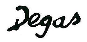 "Эдгар Дега (Edgar Degas), ""Autograph"""