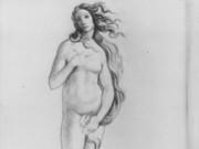 "Эдгар Дега (Edgar Degas), ""Этюд фигуры с Боттичелли"" (Drawings)"