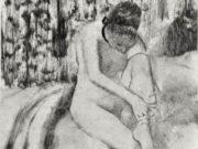 "Эдгар Дега (Edgar Degas), ""Женщина, надевающая чулок"" (Drawings)"
