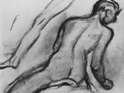 "Эдгар Дега (Edgar Degas), ""Нагой всадник (эскиз)"" (Drawings)"