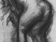 """Эдгар Дега (Edgar Degas), """"Наклонившаяся обнаженная, вытирающая ноги, со спины"""" (Drawings)"""
