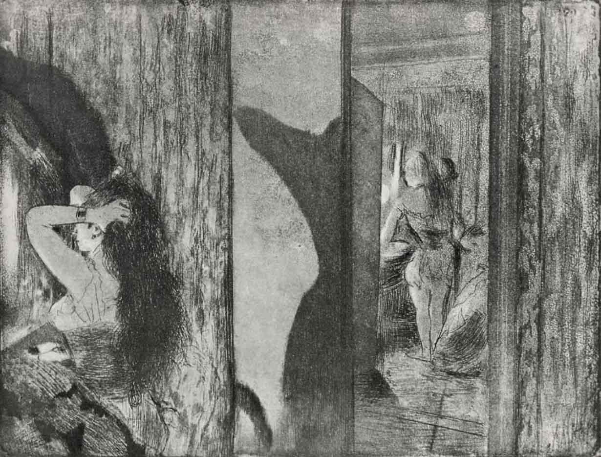 """Эдгар Дега (Edgar Degas), """"Уборная актрисы"""" (Drawings)"""