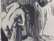 """Эдгар Дега (Edgar Degas), """"После ванны (2)"""" (Drawings)"""