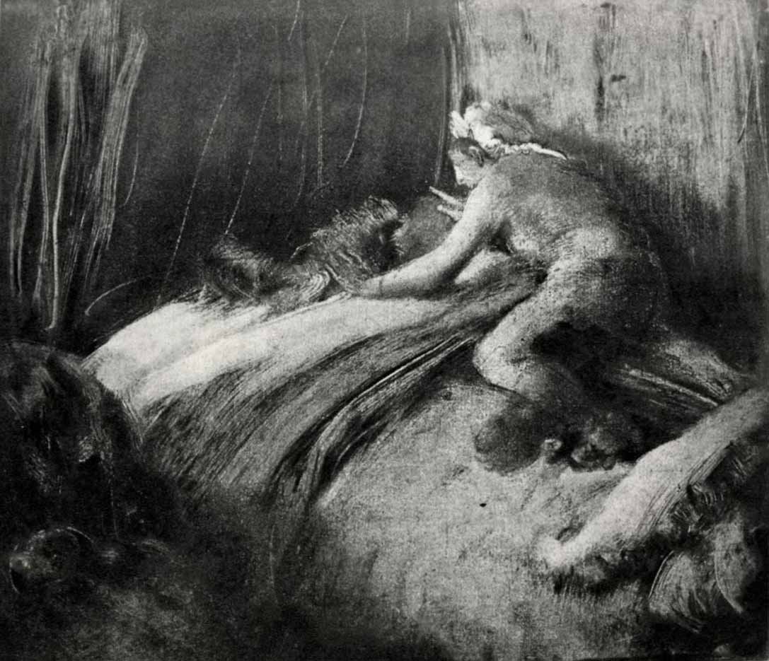 "Эдгар Дега (Edgar Degas), ""Сон"" (Drawings)"