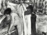 """Эдгар Дега (Edgar Degas), """"После ванны (3)"""" (Drawings)"""