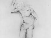 "Эдгар Дега (Edgar Degas), ""Натурщик в позе шага"" (Drawings)"