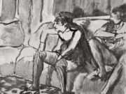 "Эдгар Дега (Edgar Degas), ""Две женщины (2)"" (Drawings)"