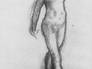 "Эдгар Дега (Edgar Degas), ""Четырнадцатилетняя балерина (эскиз)"" (Drawings)"