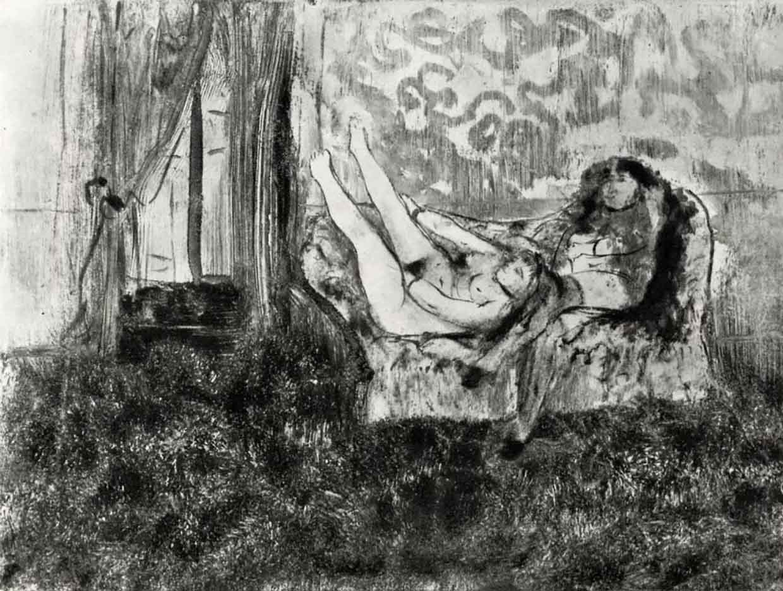 "Эдгар Дега (Edgar Degas), ""Сиеста в салоне"" (Drawings)"