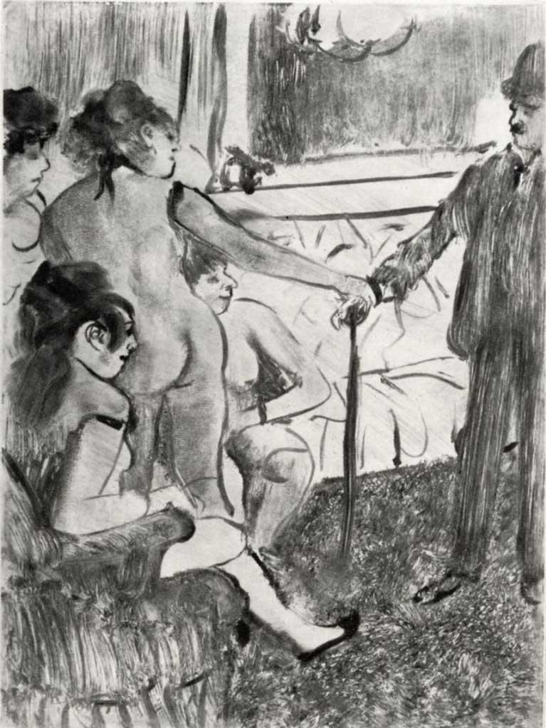 "Эдгар Дега (Edgar Degas), ""Серьезный клиент"" (Drawings)"