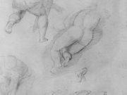 "Эдгар Дега (Edgar Degas), ""Этюд фигур с Микеланджело"" (Drawings)"