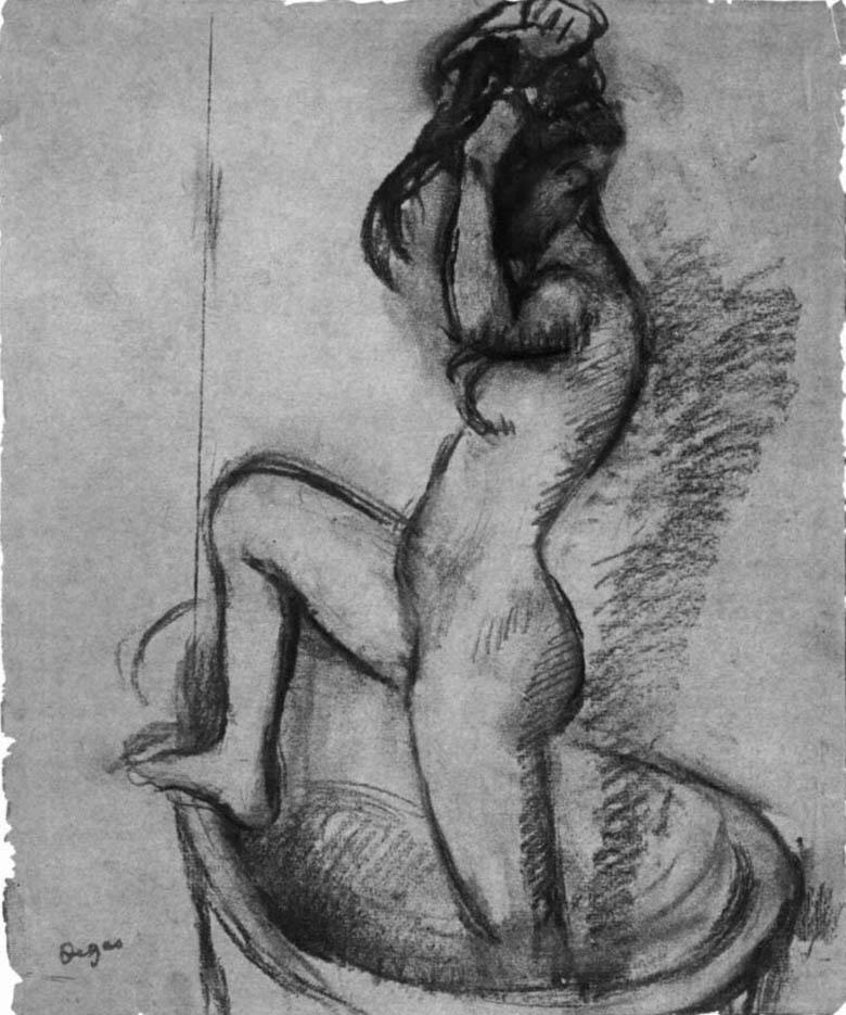 """Эдгар Дега (Edgar Degas), """"Обнаженная, выходящая из ванны"""" (Drawings)"""