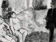 "Эдгар Дега (Edgar Degas), ""Клиент"" (Drawings)"