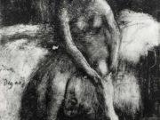 "Эдгар Дега (Edgar Degas), ""Вставание (Женщина, натягивающая чулок)"" (Drawings)"