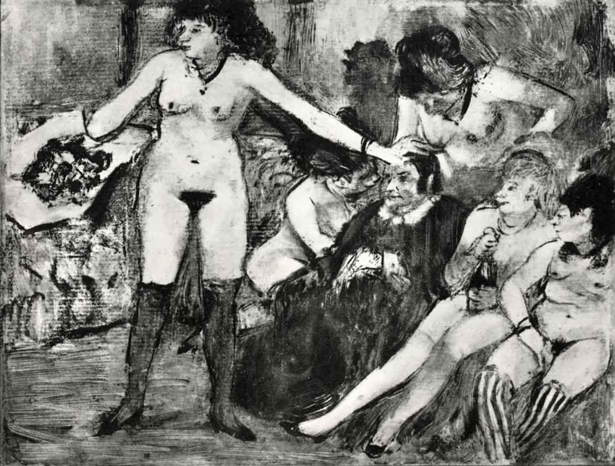 "Эдгар Дега (Edgar Degas), ""Праздник в честь хозяйки борделя"" (Drawings)"